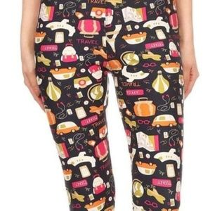 Pants - Travel theme leggings